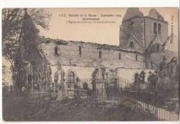 Guerre 1914 18 - Bataille De La Marne -  Sommesous - L'Eglise Dévastèe Par Le Bombardement -  Achat Immédiat - War 1914-18