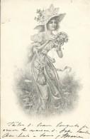 Vrouw Femme Jeune Fille Annee 1902 - Women