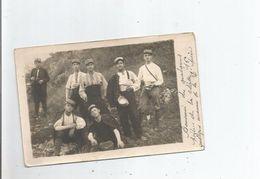 CARTE PHOTO AVEC MILTAIRES FRANCAIS GUERRE 1914 1918 (POILUS DE LA CLASSE 16) - Weltkrieg 1914-18