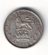 Great Britain 6 Pence 1926 Silver - 1902-1971: Postviktorianische Münzen
