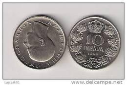 Yugoslavia 10 Dinara 1938. KM#22 High Grade From Bank Bag - Joegoslavië