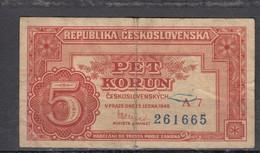 Tschechoslowakei /Ceskoslovenska Banknote 5 Koruna 1949 - Tschechoslowakei