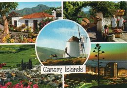 Espagne Iles Canaries Canary Islands Belle Multi-vues Animée Moulin à Vent - Espagne