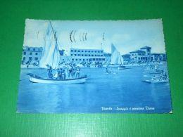 Cartolina Viserba - Spiaggia E Pensione Diana 1956 - Rimini