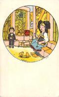 Illustrateur - Hansi - Carte Publicitaire Chaussures L'Alsacienne, Magasin Milhau Castelnaudary, Pas Une Carte Postale - Hansi