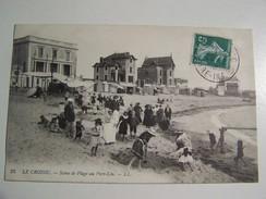 T34 LE CROISIC Scéne De Plage Au Port Lin  1909 - Le Croisic