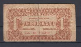 Tschechoslowakei /Ceskoslovenska Banknote 1 Koruna 1944 - Tsjechoslowakije
