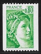 TIMBRE N° 1980   FRANCE - NEUF - SABINE  - 1977:78 Roulette - Francia