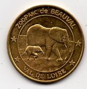 Saint Aignan Sur Cher - 41 : Zooparc De Beauval, Les éléphants (Médailles Et Patrimoine) - Touristiques