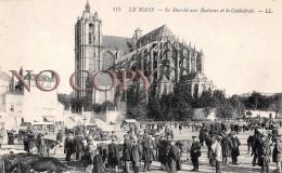 72 - Le Mans - Le Marché Aux Bestiaux Et La Cathédrale - Le Mans