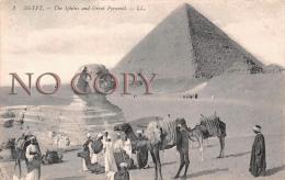 Egypte Egypt - Sphinx Et La Grande Pyramide - Sphinx And Great Pyramid - Egypte