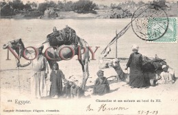 Egypte Egypt - Chamelier Et Ses Enfants Au Bord Du Nil - 1903 - Egypte