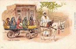 Egypte Egypt - Visite De Cimitier - Attelage âne - Egypte