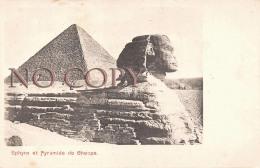 Egypte Egypt - Sphynx Et Pyramide De Cheops - Egypte