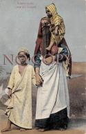 Egypte Egypt - Femme Arabe Avec Ses Enfants - Egypte