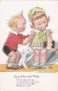 """Illustration De MAUZAN L.A.  -  """"Ne Partez Pas Déjà..."""" 2 Enfants Et Un Chien - Ed.: Benjamin - Paris N° 316 - Mauzan, L.A."""