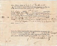 "Sept 1790 - TOULON (83) - Tartane ""Ste Françoise"" - Capitaine Philippe Brun D'Agde - 40 Barils De CÂPRES - Documentos Históricos"
