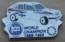 VOITURE LANCIA N° 4 - WORLD CHAMPION 1988 / 1989 - RALLYE - ELIXYR - CAR -          (JAUNE) - Rallye