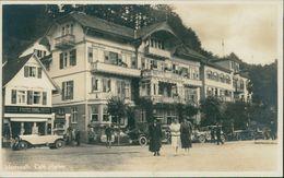 AK Bad Herrenalb, Café Harzer, Oldtimer, Mode Der 20er Jahre, Um 1930 (19414) - Bad Herrenalb