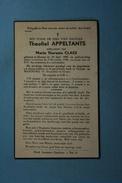 Theofiel Appeltants épx Claes Grazen 1907 1948  /029/ - Images Religieuses