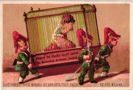 6 Cartes Litho Chromos Avant 1890 TRES ANCIEN Comme Bandes Dessinés, Publicitaires; Impr. Testu Et Massin Pipe Narguillé - Screen Printing & Direct Lithography