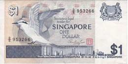 BILLETE DE SINGAPORE DE $1   (BANKNOTE) PAJARO-BIRD - Singapur