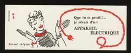 Buvard - Electricite - BUVARD CHEQUIER ( Illustrateur - HERVE BAILLE ) - Buvards, Protège-cahiers Illustrés