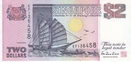 BILLETE DE SINGAPORE DE $2 EN CALIDAD EBC (XF)  (BANKNOTE) BARCO-SHIP - Singapur