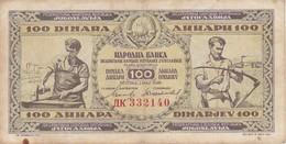 BILLETE DE YUGOSLAVIA DE 100 DINARA DEL AÑO 1946 (BANKNOTE) - Yugoslavia