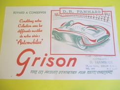 Buvard Publicitaire/GRISON/Entretien Chaussures/Automobiles/DB Panhard/Dreux/Années 50                            BUV286 - Zapatos