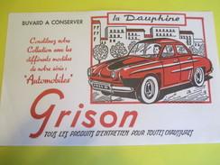Buvard Publicitaire/GRISON/Entretien Chaussures/Automobiles/Citroën DS19/Années 50                            BUV287 - Chaussures