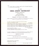 Devotie - Devotion - Overlijden Doodsbrief - Aannemer Emile Ysenbrandt - Brugge 1891 - 1973 - Décès