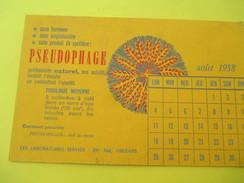 Buvard Publicitaire à 2 Volets /Laboratoires SERVIER/Orléans/Pseudophage/Pyridium/Août 1958                      BUV289 - Produits Pharmaceutiques