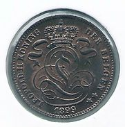 LEOPOLD II * 1 Cent 1899 Vlaams * F D C * Nr 9473 - 01. 1 Céntimo