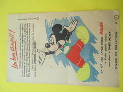 Buvard De Collection/Collectionnez Les Timbres Mickey/Journal De Mickey/Café Néso/Vers 1950                   BUV288 - Buvards, Protège-cahiers Illustrés