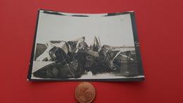 Rare Photo Crash D'avion Guerre 14 18 - Guerre, Militaire