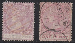 St. Christopher 1870-82 Cancelled, Perf 12.5, Wmk CC, Sc# 1-2, SG 1-2 - St.Cristopher-Nevis & Anguilla (...-1980)