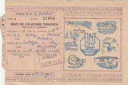 62151- TOURISTICAL AGENCY RAILWAY TICKET, FROM CLUJ NAPOCA TO POIENI, 1961, ROMANIA - Treni