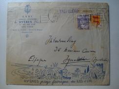 HYÈRES, PAYS FÉÉRIQUE DES ÎLES D'OR - FRANCE 1952. PRINTED ENVELOPE / LETTRE ILLUSTRÉE. - Postmark Collection (Covers)