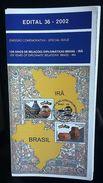 BRAZIL Edital Nº 36 - 2002 - Diplomatic Relations Brazil Ira - Brasil