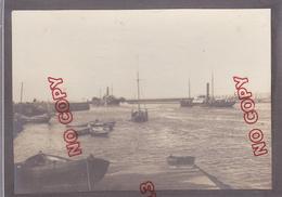 Ouistreham Calvados Début Années 20 Le Port à Mer Haute Très Beau Format Très Bon état - Barche