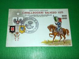 Cartolina Militaria - 12° Reggimento Cavalleggeri Saluzzo 1903 Ca. - Régiments
