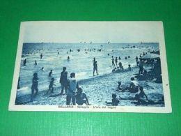 Cartolina Bellaria - Spiaggia - L' Ora Del Bagno 1930 - Rimini