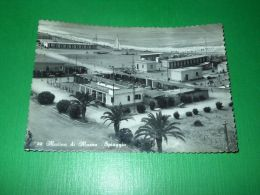 Cartolina Marina Di Massa -- Spiaggia -- 1953 - Massa