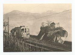 Suisse Valais Cpm Train  La Pierre Des Marmettes Au Desssus De Monthey - VS Valais