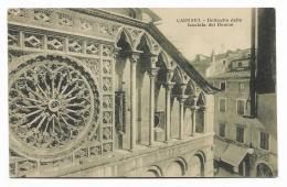 CARRARA - DETTAGLI DELLA FACCIATA DEL DUOMO 1929  VIAGGIATA   FP - Carrara
