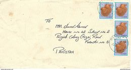 PAKISTAN 1990 COVER TO PAKISTAN WITH SHELL STAMP - Japan