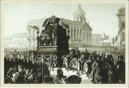 BELGIQUE -- Carte N° 6 Du SOIR - Cortège Funèbre Du Roi Léopold Ier.  ( 2 Scans ) - Funérailles