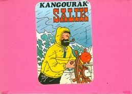AUTOCOLLANT STICKER.  KANGOURAK  SALIK.  HADDOCK.  TINTIN.  HERGE - Stickers