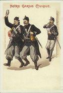 BELGIQUE -- Carte N° 7 Du SOIR - Gardes Civiques Chargés Du Maintien De L'ordre.   ( 2 Scans ) - Evénements